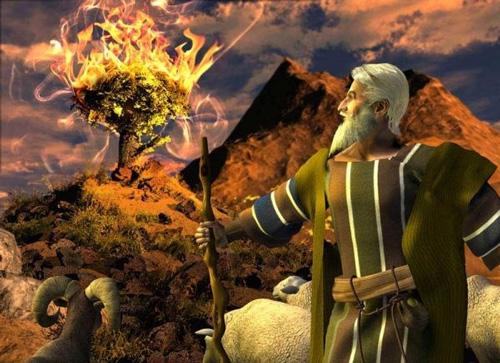 النبي موسى والنار في العليقة