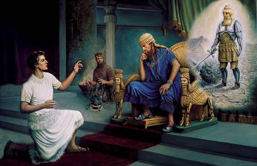 دانيال يفسر الحلم لنبوخذ نصر