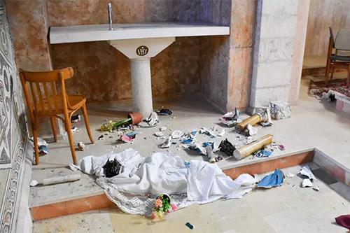 اعتداء على كنيسة القديس استيفانوس في بيت جمال غرب القدس