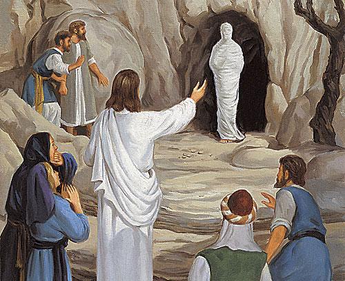 يسوع يقيم ليعازر من بين الاموات