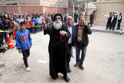 هجوم ارهابي على كنيسة جنوبي القاهرة