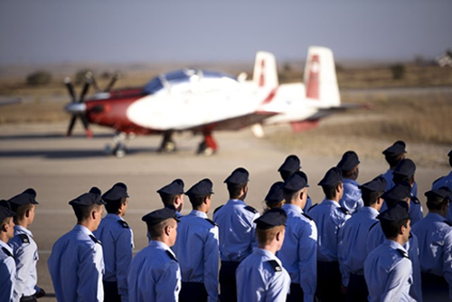مسيحي في دورة الطيران في سلاح الجو الاسرائيلي