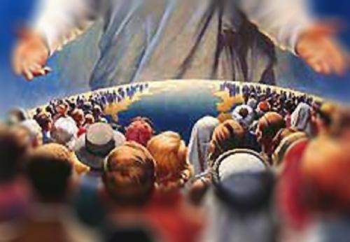 المسيح يستقبل المؤمنين من كل شعوب الارض
