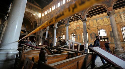 عملية ارهابية داخل كنيسة في مصر