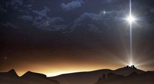 النجم عند ولادة يسوع الطفل