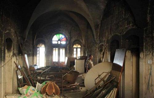 Brand in Bethlehemse kerk – en waar blijft de pers?