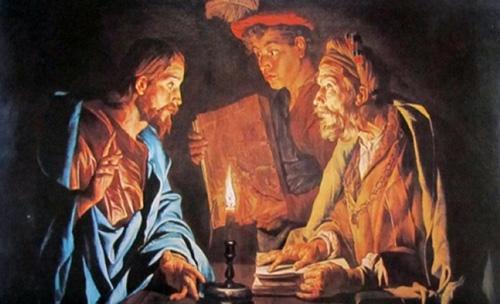 يسوع يعلم نيقوديموس