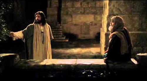 الرب يسوع  يقابل نيقوديموس