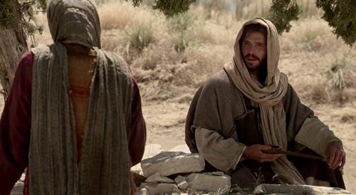 يسوع يتحدث مع السامرية