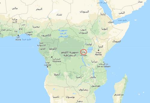 رواندا في قارة افريقيا