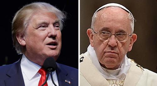 البابا فرانسيس ودونالد ترامب