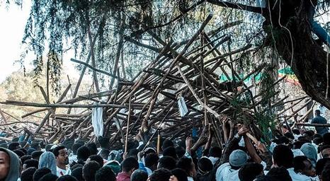 10 قتلى بانهيار منصة خلال احتفال مسيحي في اثيوبيا