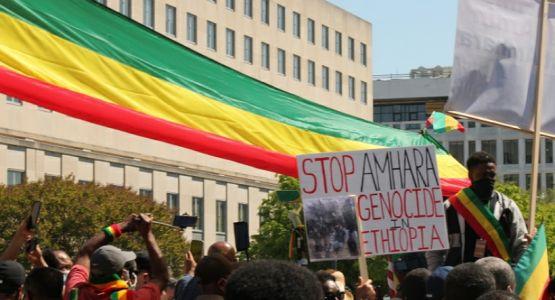 محتجون يحثون بايدن على اتخاذ إجراءات ضد إثيوبيا بتهمة الإبادة الجماعية