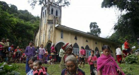 الكنائس تضررت في الشهر الماضي وسط نزاع ميانمار