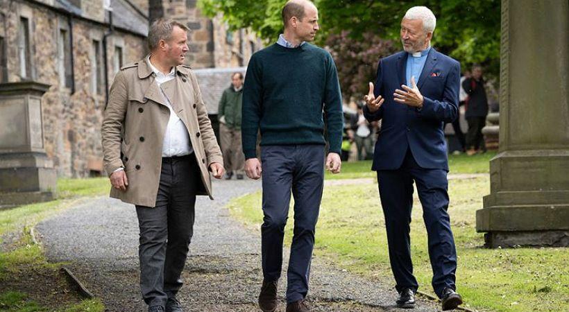 الأمير وليام يزور الجمعيات الخيرية المسيحية في إدنبرة