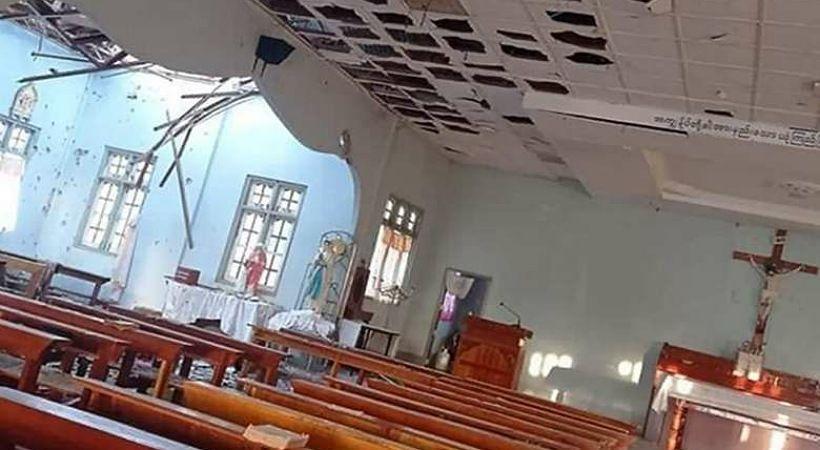المسيحيون يعيدون تكريس كنيسة في ميانمار بعد الاحتلال العسكري