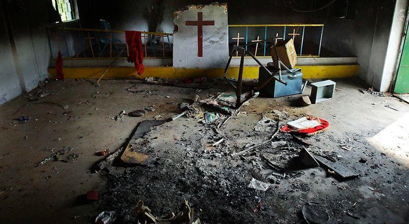 كنيسة تتعرض لهجوم شنه حشد من الهندوس في الهند