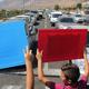أهالي الرامة يتظاهرون مع المدارس الاهلية ويغلقون شارع عكا صفد احتجاجا ضد التمييز