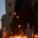 إحراق شجرتي الميلاد في مدينة سخنين