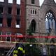حريق ضخم يلتهم كنيسة تاريخية في نيويورك