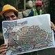 اكتشاف شارع أثري بالقدس ظهر في خريطة مادبا البيزنطية