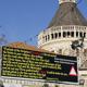 مسيحيون للقائمة المشتركة: لن نصوّت للقائمة ان لم تزيلوا اللافتة المسيئة من أمام كنيسة البشارة