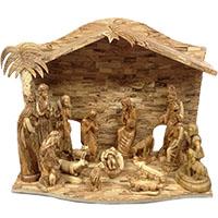مغارة بيت لحم بالحجم الكبير - خشب زيتون